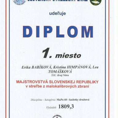 Majstrovstvá Slovenska v streľbe zo vzduchových pušiek 2019
