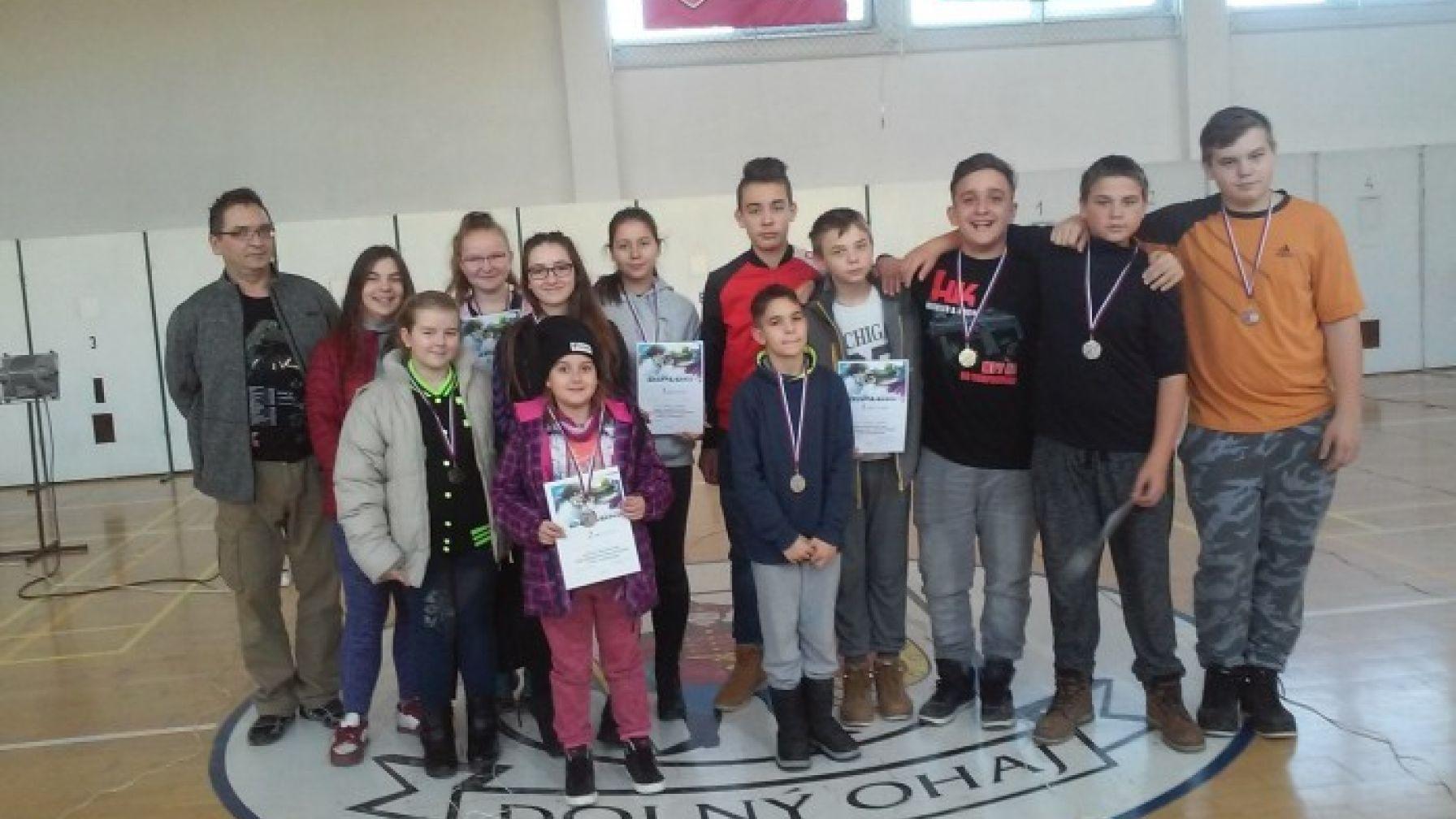 Majstrovstvá okresu Nové Zámky žiakov základných škôl v streľbe zo vzduchovky