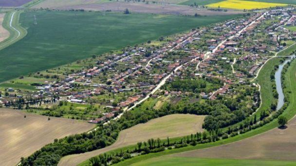 Letecký pohľad na obec